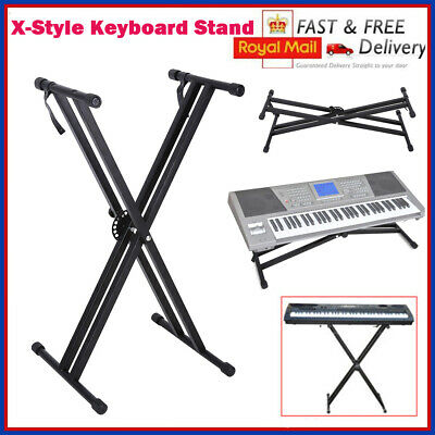 Double-Braced X Frame Keyboard Piano Stand Electric Organ Holder Adjustable New
