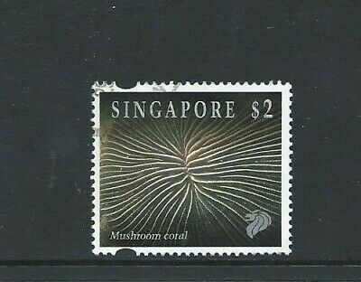 Singapore 1994 Reef Life $2 Mushroom Coral Used Stamp