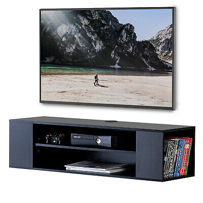 TV STAND WALL Unit Media Console Shelf for Speaker/Cable Box/PS4