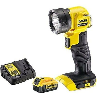 Dewalt DCL040N 18v XR Pivot Light Torch With 1 x 4.0Ah DCB182 Battery & Charger