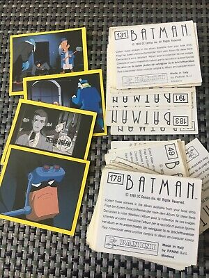 Lote x71 cromos / Stickers - BATMAN (animated series) - from 1993 de PANINI