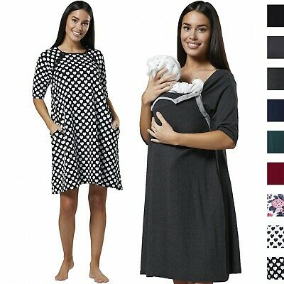 HAPPY MAMA Women's Maternity Nursing Delivery Hospital Gown Nightwear 1140
