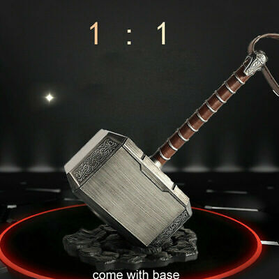 Cosplay Prop The Avengers Thor Hammer 1:1 Scale Mjolnir Replica With Stand Base