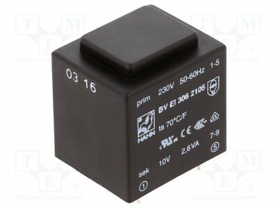 Transformer: encapsulated; 2.6VA; 230VAC; 10V; 260mA; Mounting: PCB[1 pcs]
