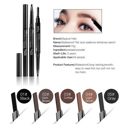 MAGICAL HALO Brow Definer Pencil Duo Ended Eyebrow Definer Brow Wiz Angled Brush