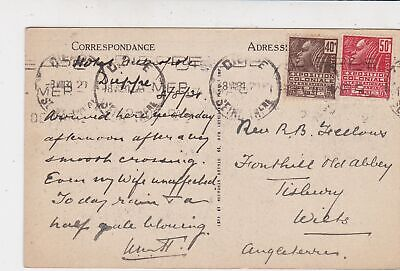 France Dieppe 1931 Inside Saint -Jacques Picture Stamps Card to England Rf 32145