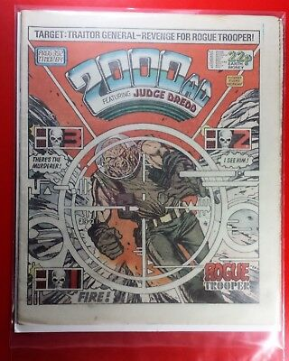 2000AD PROG 392 Dredd Great Condition KEY ISSUE Rogue Trooper Death of Traitor!