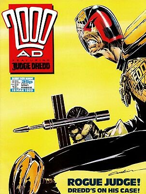 2000AD PROG 618 Judge Dredd Mega City One Comic Issue lot Great Condition