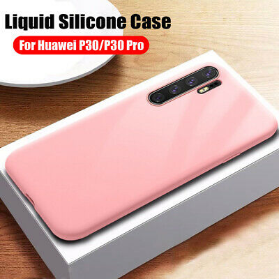 Thin Liquid Silicone Case for Huawei P30 P20 Lite/Mate20 Pro Hybrid Rubber Cover