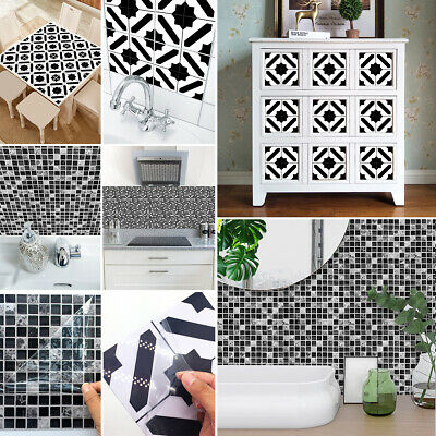 15x15/20x20cm Moroccan Style Mosaic Tile Stickers Wall Decals for Kitchen Toilet