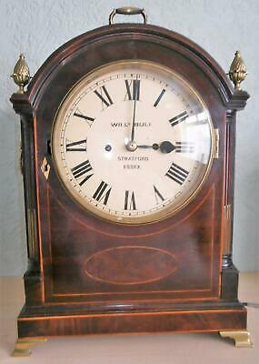 Mahogany Pad Top Double Fusee Bracket Clock Serviced in Good Working Order