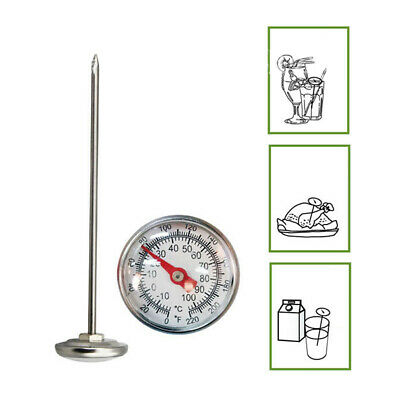 Stainless Steel Garden Tools Soil Thermometer For Lawn Vegetable Flower Plant AU