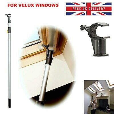 Window Pole Opener Telescopic Stick For VELUX Window Skylights Roof Blinds 200cm