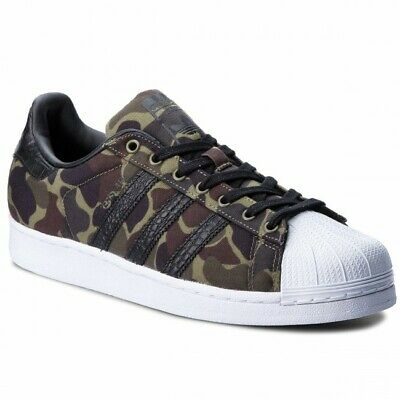 0aed29448be6c ADIDAS MENS SUPERSTAR Camo 15 Casual Shoes - Red/Black - Size 13 ...