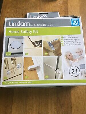 LINDAM home Safety Kit Catches Plug Socket Appliance Door Stopper Baby Toddler