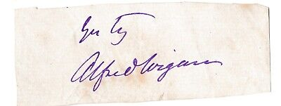 Alfred Wigan [1814-1878] - famous Victorian actor - original signature