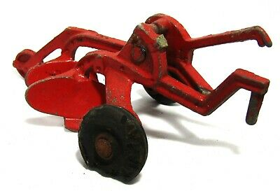 Older Vintage Cast Metal Two Bottom Plow Implement Toy - #9821 - Tootsie Toy?
