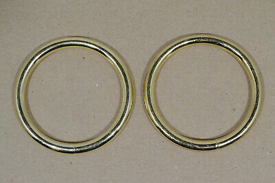 "O Ring - 2"" - Brass Plated - Pack of 18 (F487)"