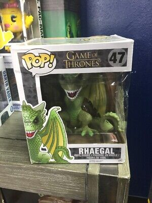 "Funko Pop! Game of Thrones GoT Rhaegal #47 6"" Inch HBO New Dragon notperfect box"