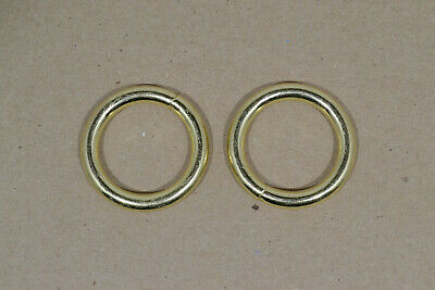 """O Ring - 1"""" - Brass Plated - Wire Welded - Pack of 48 (F490)"""