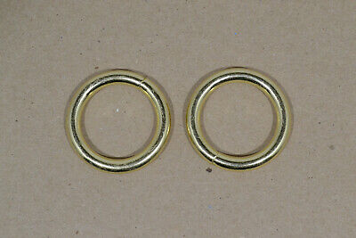 """O Ring - 1"""" - Brass Plated - Wire Welded - Pack of 96 (F491)"""