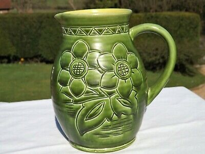 Stunning Rare Antique Bretby Pottery Sunshine Jug Hand Made In England No 3425