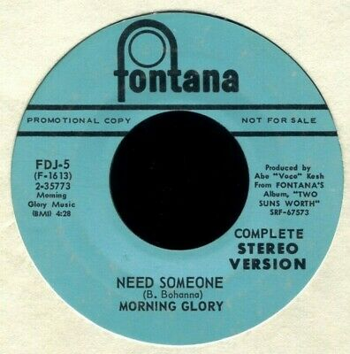 Morning Glory Need Someone (Stereo) / Mono 1968 Nm Promo Psychedelic