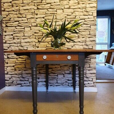 Oak Drop Leaf Table/ Restored dining table/ Shabby chic table/Kitchen Table