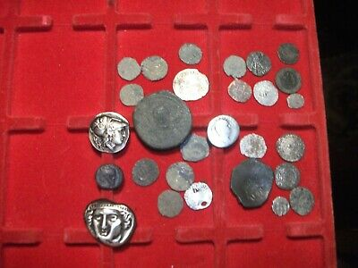 Lot Of Mixed Ancient Coins. silver and bronze  Roman Greek European