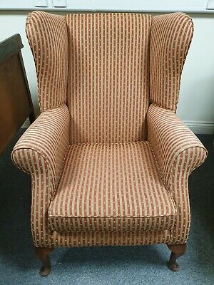 Lovely quality Queen Anne style wing back armchair