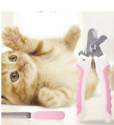 dog nail clipper pet dog cat nail safety lock stainless steel dog claw knife