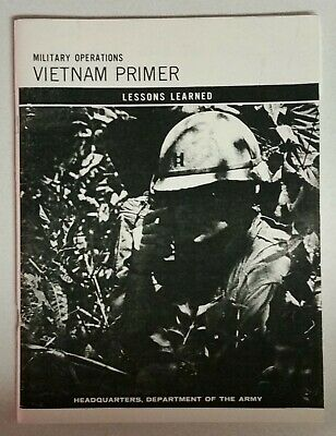 Military Operations Vietnam Primer Lessons Learned Signed David Hackworth Book