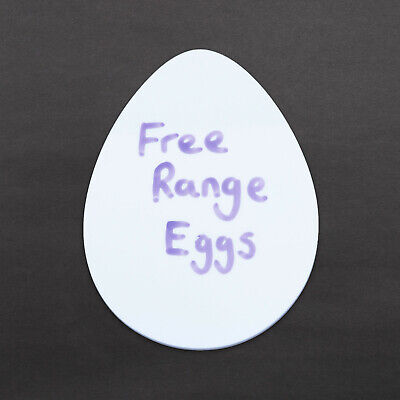 Egg Shape Whiteboard Office Kitchen Pub Cafe Restaurant Novelty White Board
