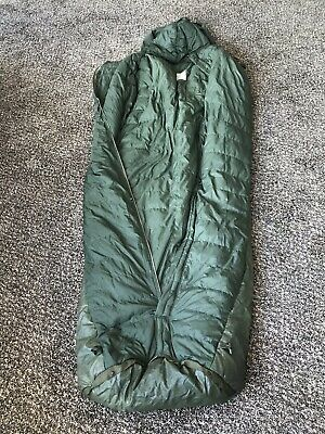 Italian Army Mummy Style Sleeping Bag With Built In Storage Bag - USED