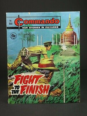 Dated 1972 ~ Vintage Commando Comic ~ Number 668 ~ Fight To The Finish
