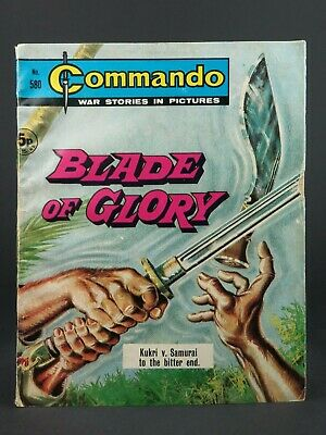 Dated 1971 ~ Vintage Commando Comic ~ Number 580 ~ Blade Of Glory