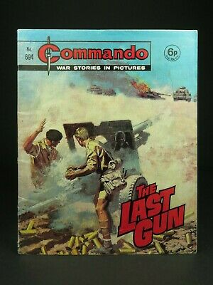Dated 1972 ~ Vintage Commando Comic ~ Number 694 ~ The Last Gun