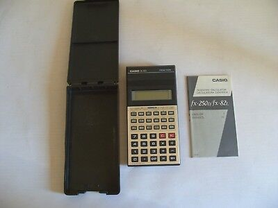 CASIO fx-82L SCIENTIFIC FRACTION CALCULATOR WITH INSTRUCTIONS MANUAL & HARD CASE