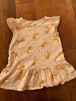 Baby Gap NWT Pink Hibiscus TULLE TIERED SHORT SLEEVE DRESS TOP SHIRT 2 3 Years