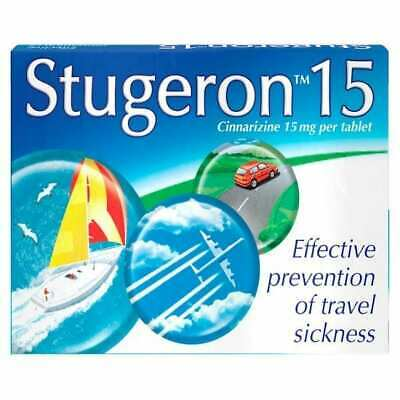 Stugeron For Travel Sickness (Cinnarizine), 15 Tablets - FAST AND FREE DELIVERY
