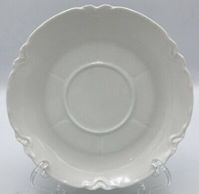 Haviland Ranson White Saucer (s) Indents Radiating From Center France Vintage