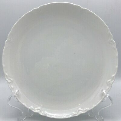 Haviland Ranson White Luncheon Plate Coupe Style France Vintage Schleiger 1