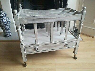 Vintage Canterbury. Shabby Chic Distressed Magazine/Music Rack Antique Style