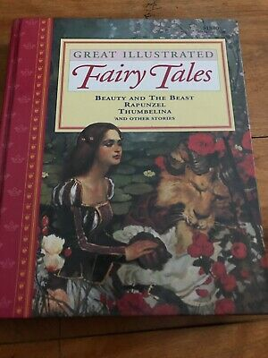 *LOT SALE* GREAT ILLUSTRATED Fairy Tales Vintage Children's HARDCOVER Books (4)