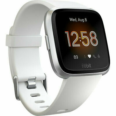 Fitbit Versa Lite Edition Activity Tracker Fb415Srwt White / Silver Aluminum