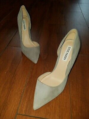 17833520a9c STEVE MADDEN FELICITY Grey Suede Pumps pointy toe Size 7.5 women store  display