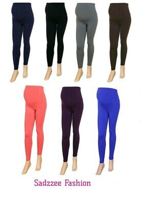 Uk Stock Womens Maternity Leggings New Ladies Over Bump Plus All Size Available