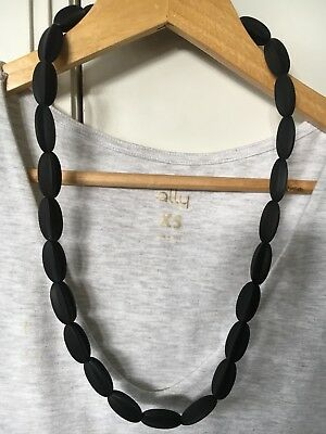 SALE Silicone Necklace was teething)for Mum Jewellery Sensory BLACK Aus Gift