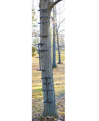 Tree Quick Single Climbing Sticks Steel Ladder Steps Hunting Tree Stand, 3 Pack