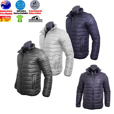 Remixx Men's Puffer Zip Lightweight Coat Warm Fleece Jacket Winter Warm